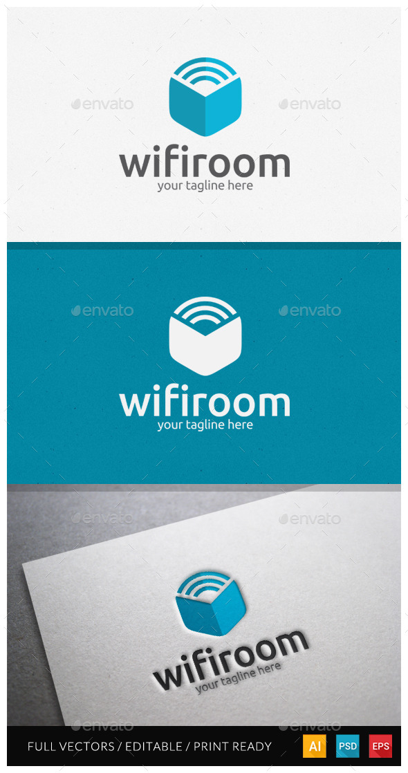 GraphicRiver Wifiroom Logo Template 10599389