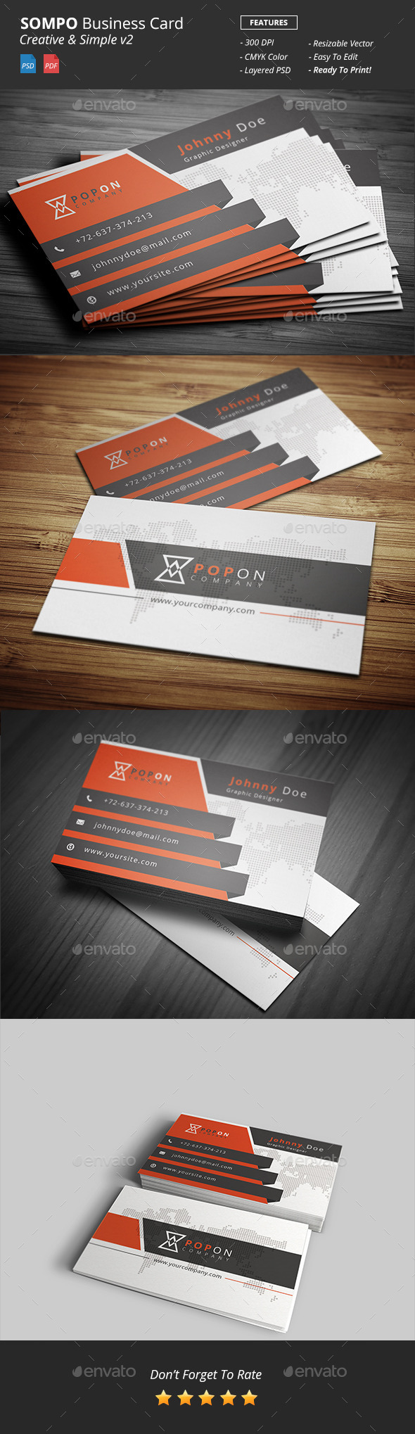 GraphicRiver Sompo Creative Bussiness Card Template v2 10599413