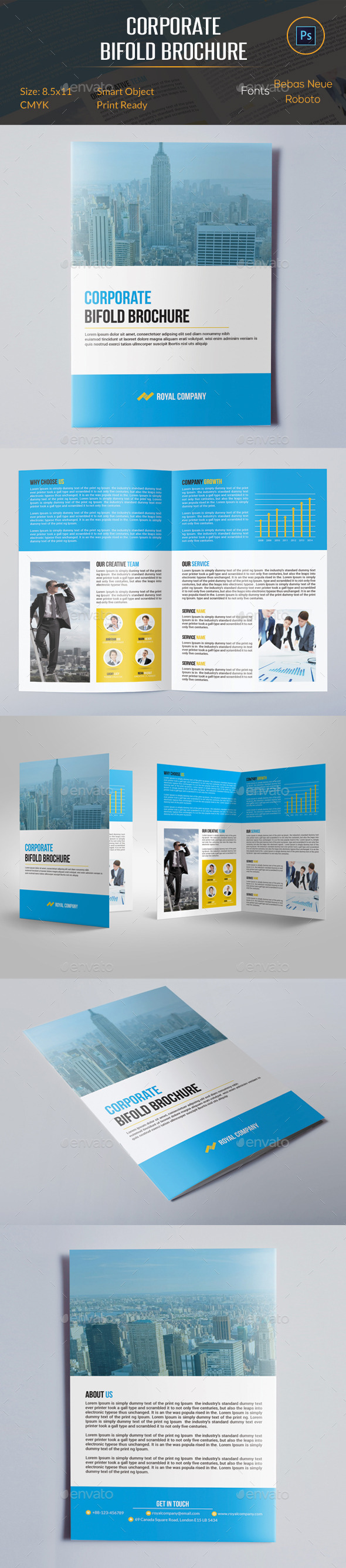 GraphicRiver Corporate Bifold Brochure 10599420