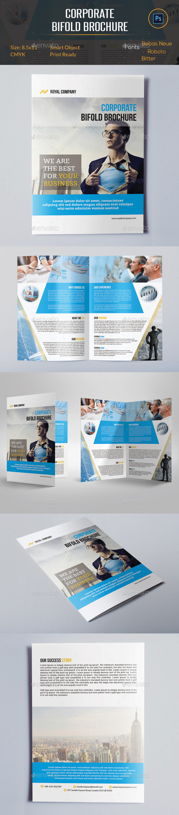 GraphicRiver Corporate Bifold Brochure 10599425