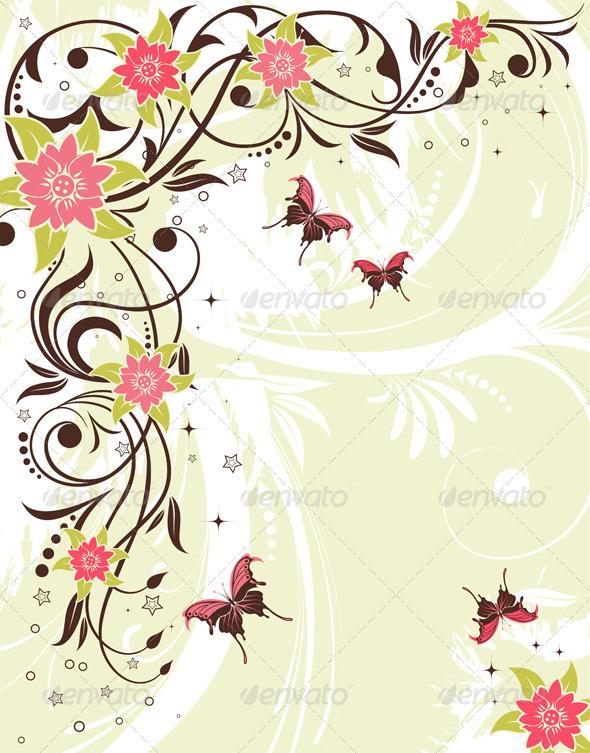 Flower Frame Graphicriver Vectors Decorative Flourishes Swirls