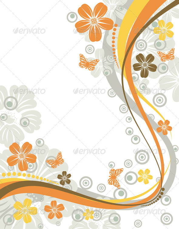 Butterfly with Flower Frame