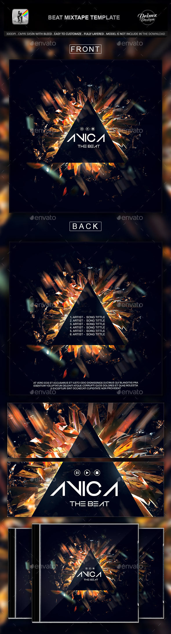 GraphicRiver Beat Mixtape Template 10599660