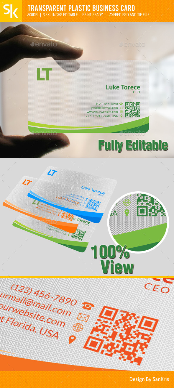 GraphicRiver Transparent Plastic Business Card 10337947