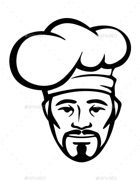 GraphicRiver Hispanic Chef in a White Toque 10599695