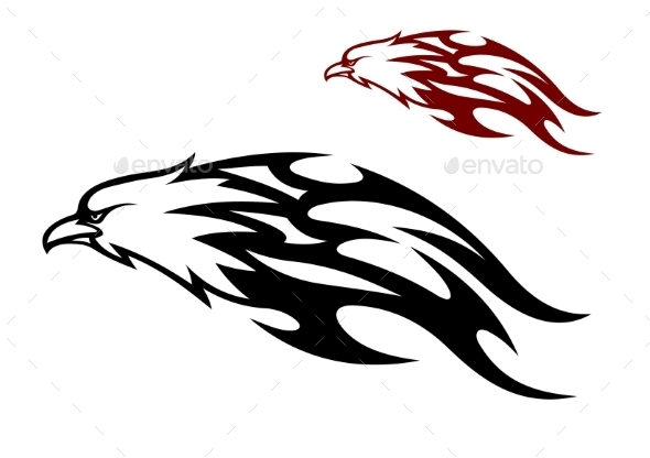 GraphicRiver Flying Eagle with Trailing Flames 10599700