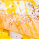 French crepe with mango and whipping cream - PhotoDune Item for Sale
