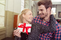 Loving woman thanking her husband for a gift - PhotoDune Item for Sale