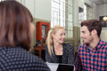 Young couple in a meeting with a broker - PhotoDune Item for Sale
