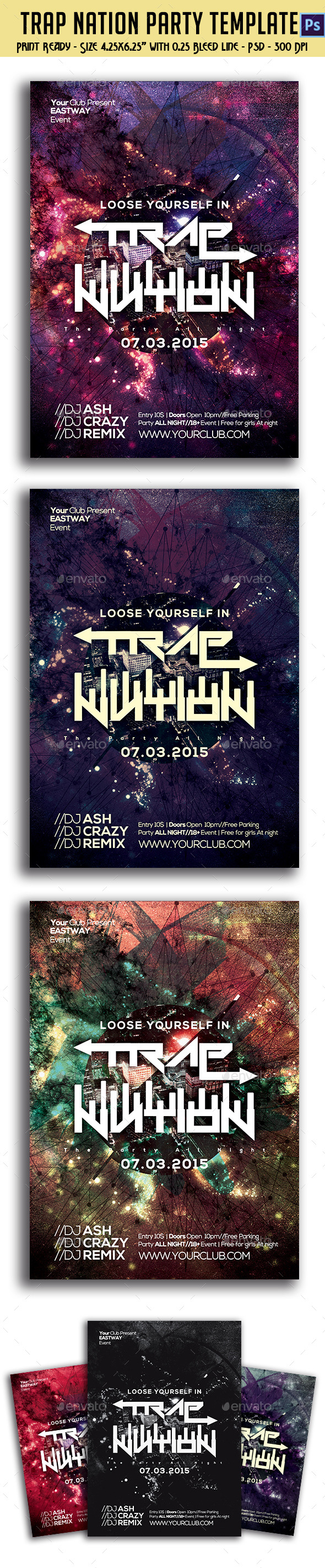 GraphicRiver Trap Nation Party Flyer 10599955