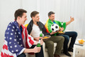 Friends Of Different Nation Supporting Football Team - PhotoDune Item for Sale