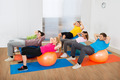 Group Of People Exercising On Pilate Ball - PhotoDune Item for Sale