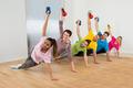 Multiethnic Friends Exercising - PhotoDune Item for Sale