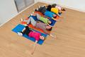 Multiethnic Group Of Happy People Exercising - PhotoDune Item for Sale