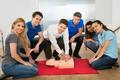 Resuscitation Training Using First-aid Dummy - PhotoDune Item for Sale