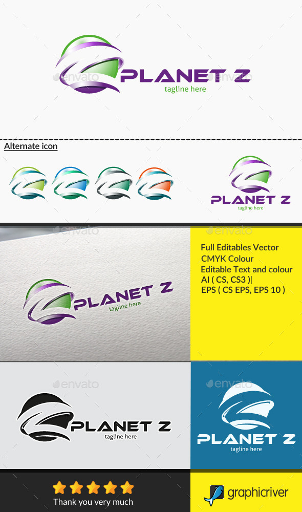 GraphicRiver Letter Z Planet Z 10600194