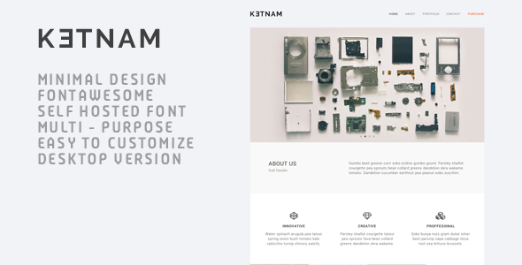 ThemeForest Ketnam Creative Muse Template 10600252
