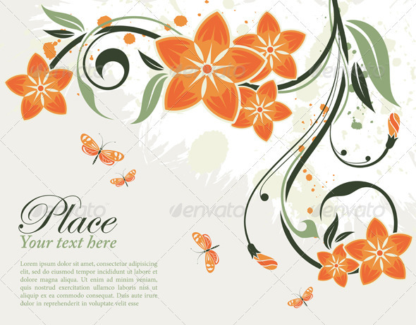 Floral Frame GraphicRiver - Vectors - Decorative Flourishes / Swirls ...