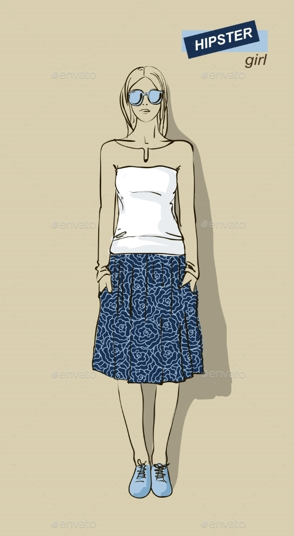 GraphicRiver Hipster Girl 10600506