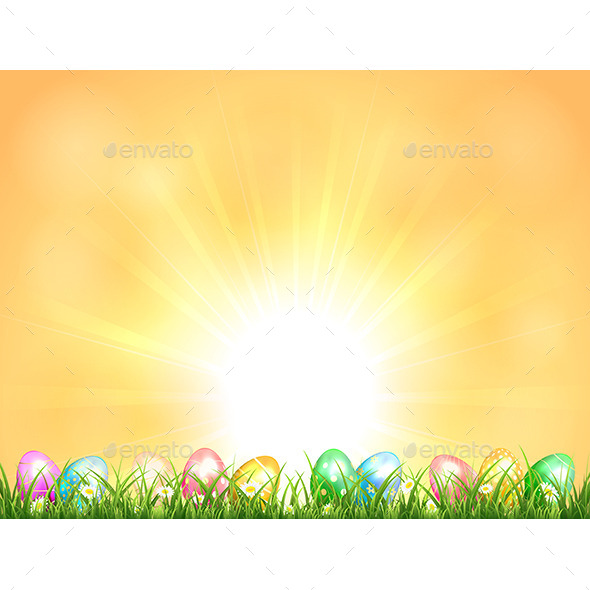 GraphicRiver Background with Easter Eggs 10600572