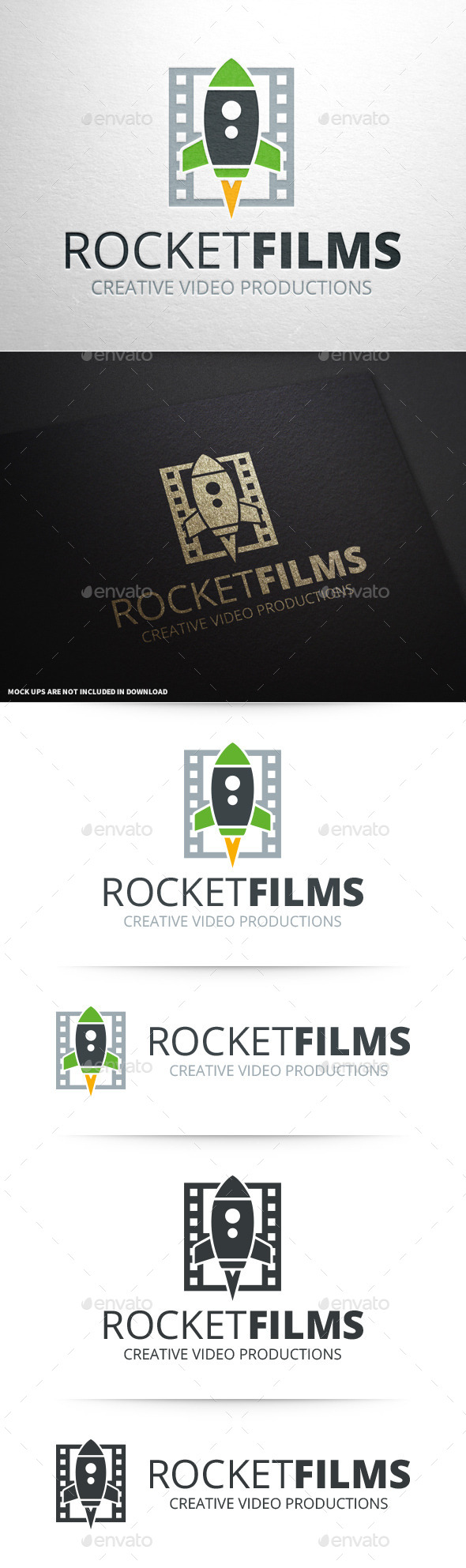 GraphicRiver Rocket Films Logo Template 10600718