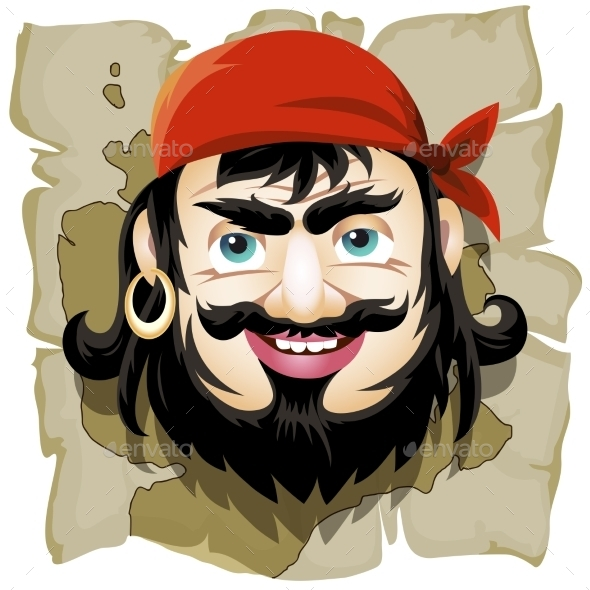 GraphicRiver Smiling Pirate 10600772