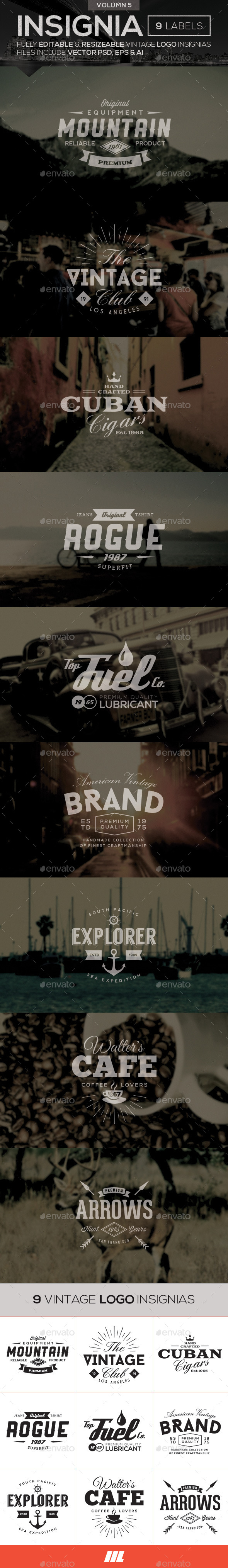 GraphicRiver Vintage Logo Insignias Vol 5 10600781