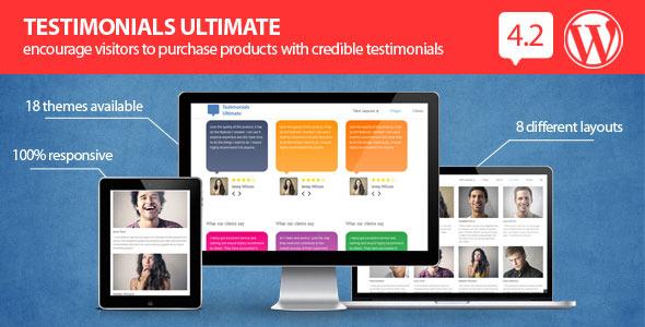 Testimonials Ultimate - WordPress Plugin - CodeCanyon Item for Sale