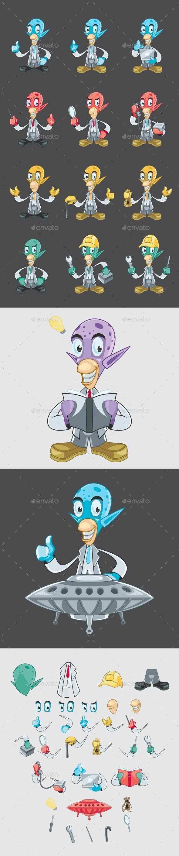 GraphicRiver Alien Mascot 10600824