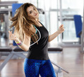 Woman doing aerobics at the gym - PhotoDune Item for Sale