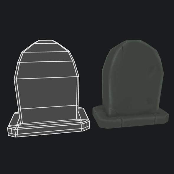 3DOcean LowPoly handpainted Gravestone 10600879