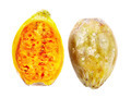 Two half pieces of cactus fruit on white - PhotoDune Item for Sale