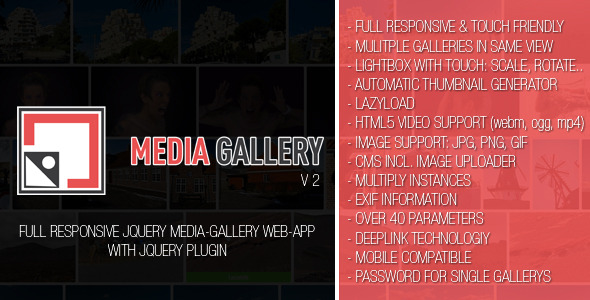 CodeCanyon Media-Gallery V2 Web-App 10600931