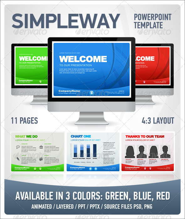 SimpleWay Presentation Template - Business Powerpoint Templates
