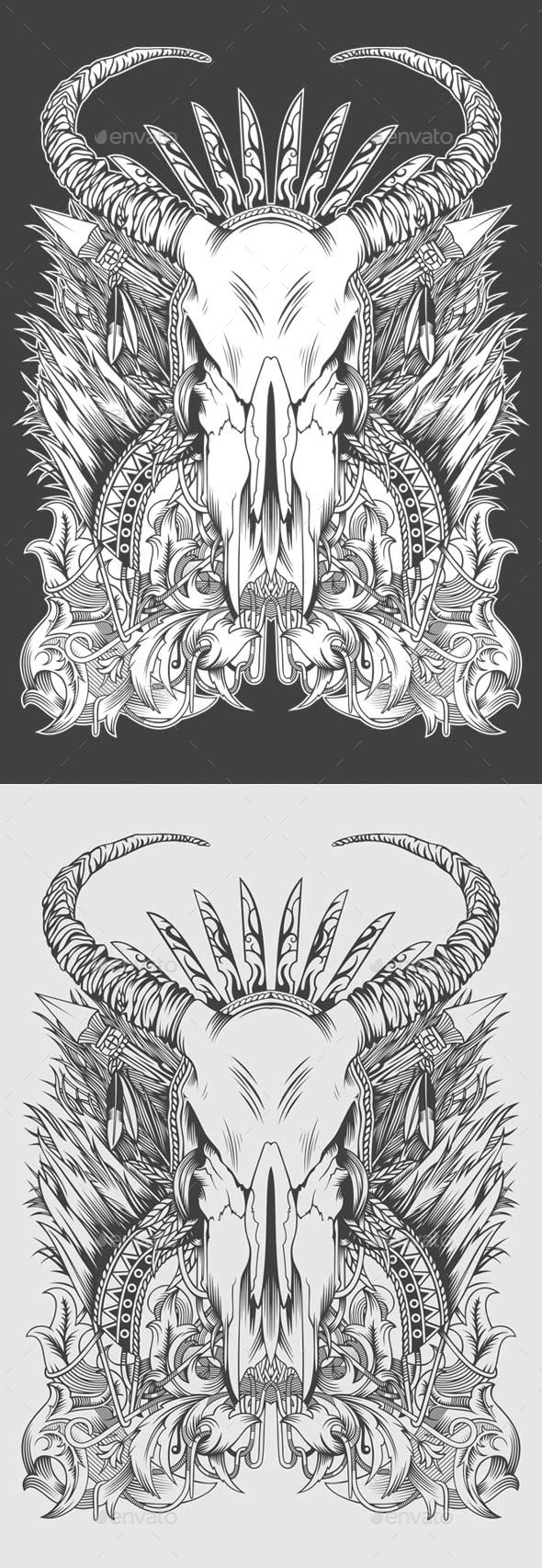 GraphicRiver Skull Illustration 10601018