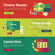 Flat Concept Banners For Entertainment Kinds - GraphicRiver Item for Sale