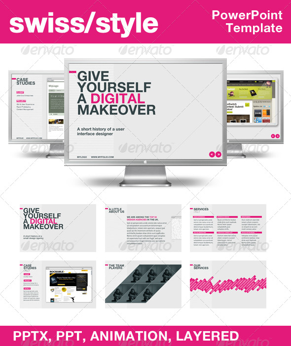 GraphicRiver Swiss Style PowerPoint Template 132911