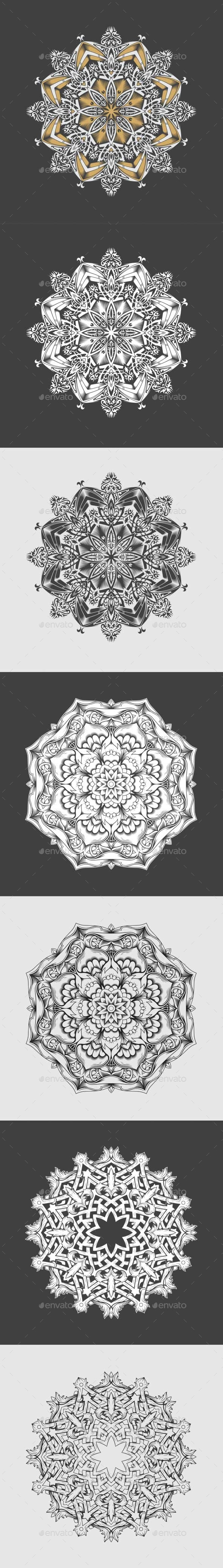 GraphicRiver Mandalas 10601118