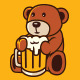 Teddy Beer - Logo Template - GraphicRiver Item for Sale
