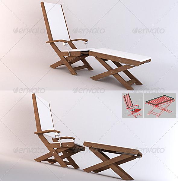 3DOcean Garden 03 Relax Chairs 132912