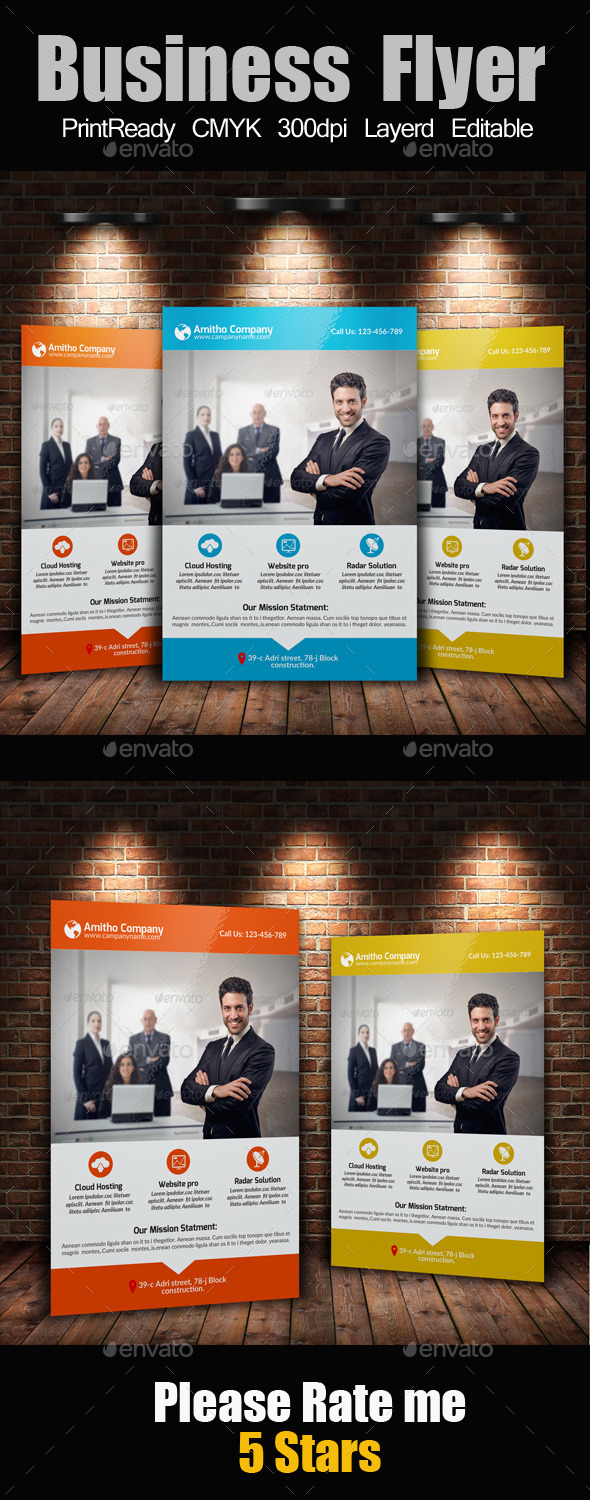 GraphicRiver A4 Business Flyer Template 10601397