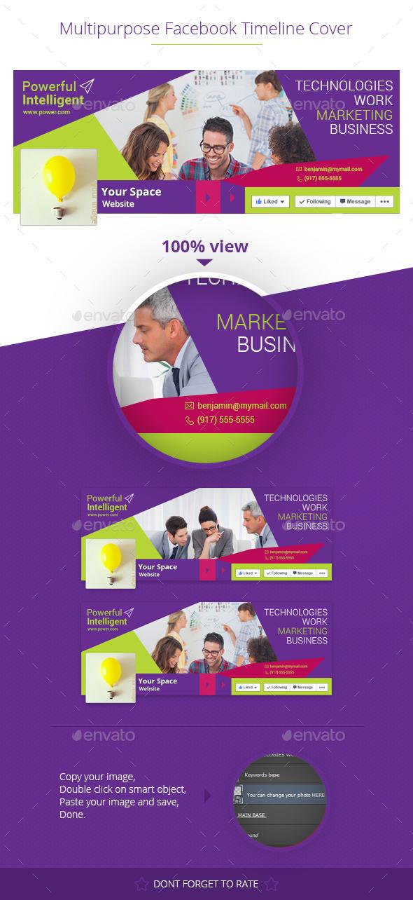 GraphicRiver Multipurpose Facebook Cover 10436293