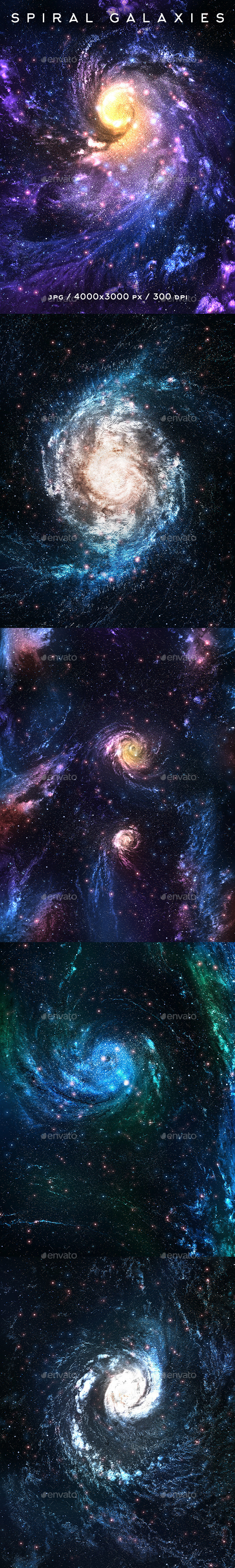 GraphicRiver Spiral Galaxies 10601411