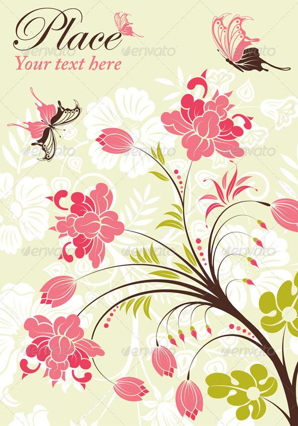 Graphic River Flower Frame Vectors - Decorative Flourishes / Swirls ...