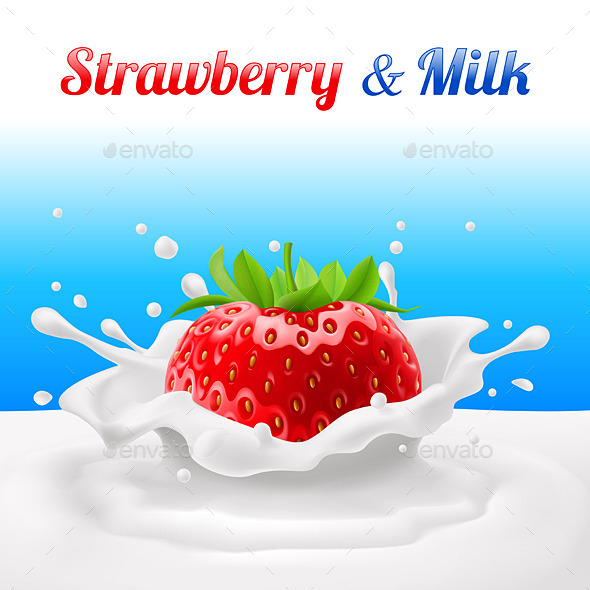 GraphicRiver Strawberry in Milk 10601551