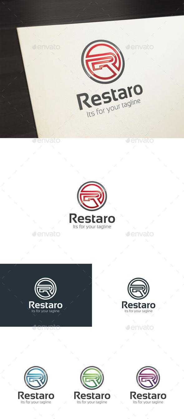 GraphicRiver Restaro R Letter Logo 10601552