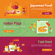 Flat Design Concept Banners for Cooking - GraphicRiver Item for Sale
