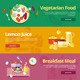 Flat Concept Banners for Food and Drinks  - GraphicRiver Item for Sale