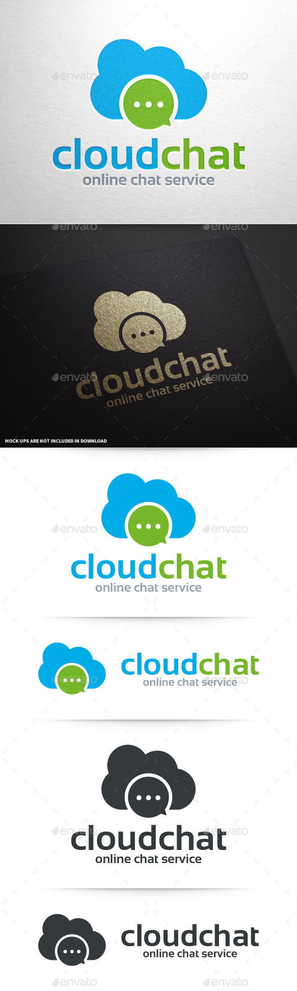 GraphicRiver Cloud Chat Logo Template 10601804