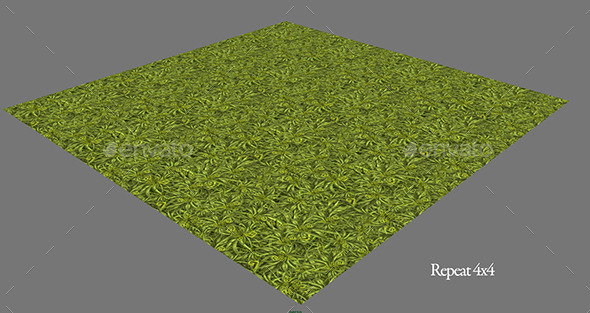 Fantasy Grass Tiled - 3DOcean Item for Sale